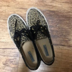 Leopard Sperry Top-Sidey Loafers